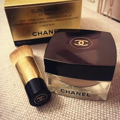 現貨 Chanel 香奈兒奢華精萃滋養護膚粉底含粉刷金磚粉霜 30g日上-淘寶網