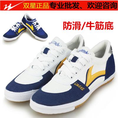 雙星運動鞋 帆布乒羽鞋 雙星高級乒乓球鞋 男女訓練鞋休閑健身鞋-淘寶網