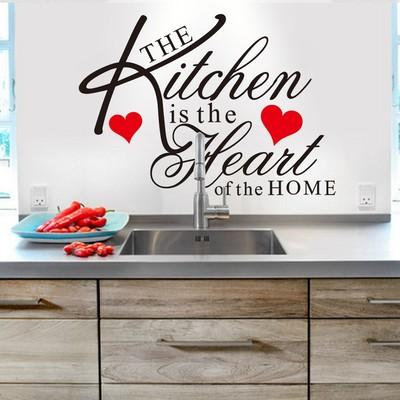 KITCHEN 廚房餐廳餐具用具 家裝飾背景英語英文字母墻貼紙ZY8191-淘寶網