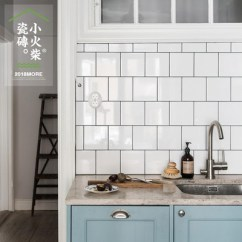 Grey Kitchen Tile Laminate Ideas 小火柴北欧黑白灰色厨房卫生间瓷砖浴室厕所墙砖亚光纯色釉面 淘宝网 O