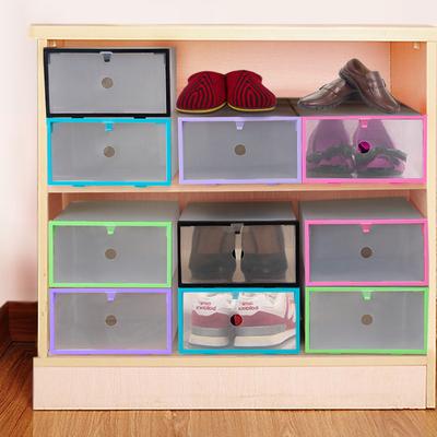 加厚抽屜鞋盒透明鞋盒男女抽屜式鞋子收納盒鞋架防塵有蓋整理鞋櫃