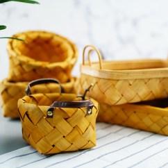 Kitchen Fruit Basket Bamboo Flooring In 采撷舍日式木片编织篮藤编面包篮木篮子厨房水果篮蔬菜收纳筐篮 淘宝网 O