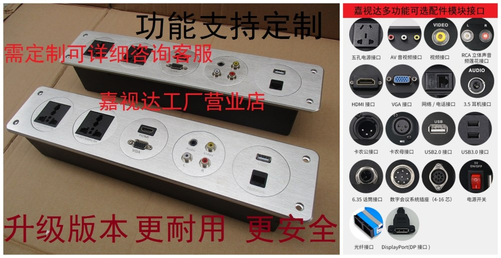 medium resolution of multimedia wall desktop socket double hdmi dual network screen information panel hotel wall wiring board
