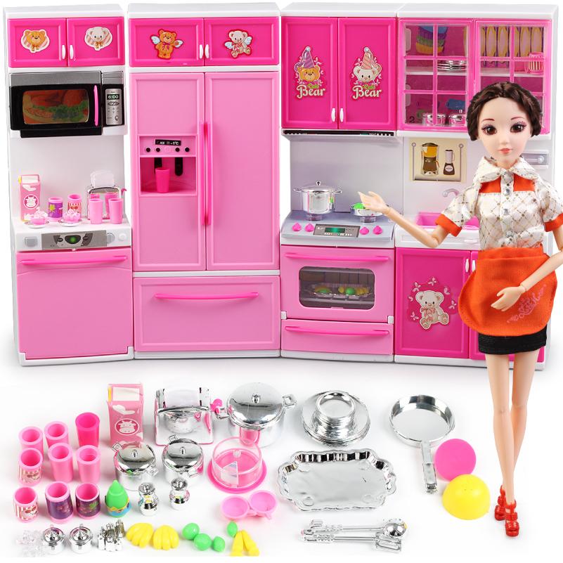 barbie kitchen playset faucet types 儿童仿真过家家厨房玩具套装芭巴比娃娃的房子配件女孩公主甜甜屋 淘宝网 芭比厨房玩具