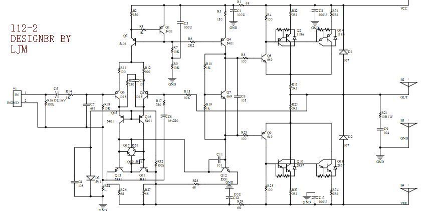 L12-2 120W+120W 8ohm 2SA1186 2SC2837 CLASS AB power