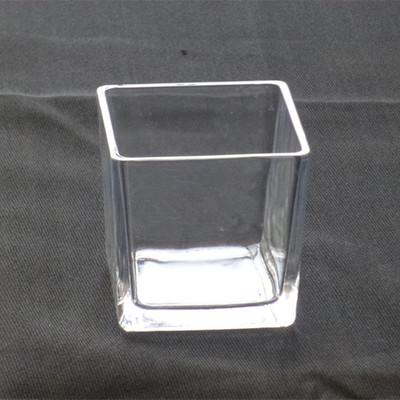 玻璃方缸花瓶 透明玻璃花盆 正四方形 水培透明玻璃瓶子杯子容器-淘寶網