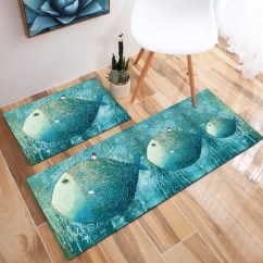Blue Kitchen Rugs Commercial Appliances 蓝色北欧长条地中海客厅地毯卧室床边毯厨房防滑脚垫可机洗地垫 淘宝网 蓝色厨房地毯