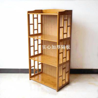 楠竹置物架竹書架儲物柜實木多層廚房架落地擱物架簡易書柜收納架-淘寶網