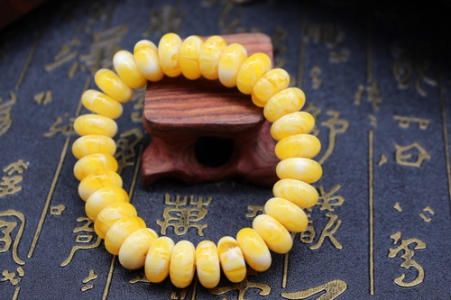 Hair straight natural baltic old beeswax irregular type bracelet amber original broiler oil yellow male bracelet - intl