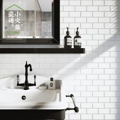 gray subway tile kitchen wall mounted faucets 小火柴北欧简约白色灰色地铁砖亮面全瓷马赛克墙砖厨房卫生间吧台 淘宝网 灰色的地铁砖厨房