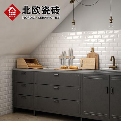 gray subway tile kitchen stoves for sale 北欧黑白灰地铁砖厨房墙砖卫生间瓷砖厕所墙面砖简约小白砖75x150 淘宝网 o