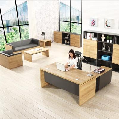 板式新款原木色老板桌簡約現代總裁辦公桌經理主管臺1.8米大班臺-淘寶網
