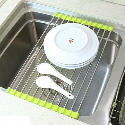 kitchen sink rack simulator 不锈钢沥水架厨房水槽沥水篮滤水篮沥水架折叠沥水卷帘水板置物架 淘宝网 厨房水槽架