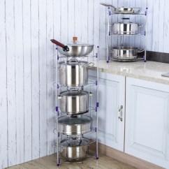 Pot Racks For Kitchen Ceiling Lighting Fixtures 多功能厨房家用放锅架隔热置物收纳锅架3层或5层券后34 40元包邮 如意购 厨房锅架