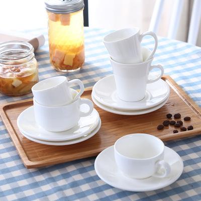 出口歐式陶瓷咖啡杯簡約純白色小杯碟英式花茶紅茶杯子意式濃縮杯-淘寶網