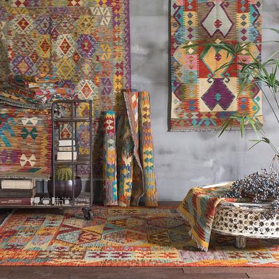 阿富汗巴基斯坦Kilim土耳其民族風復古幾何北歐現代地毯地墊掛毯-淘寶網