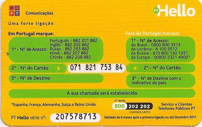 Cartão Hello Brasil