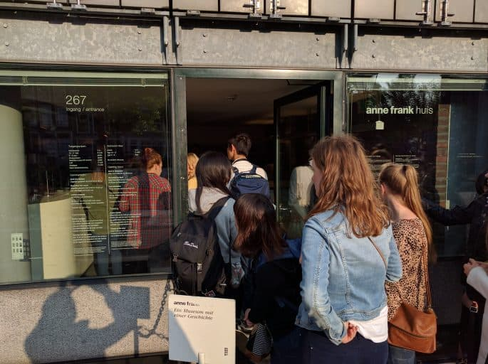 Casa Anne Frank, em Amsterdã: entrada
