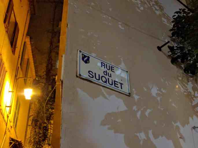 Rue du Suquet, em Cannes