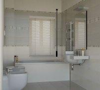Il bagno grande con le piastrelle MINIMAL di Marazzi