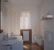 Il bagno principale con ceramiche MINIMAL di Marazzi