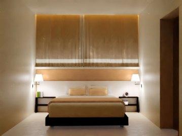 Camera matrimoniale di notte