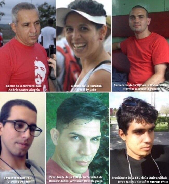 """Represores cubanos de """"cuello blanco"""", identificados por la FDHC."""