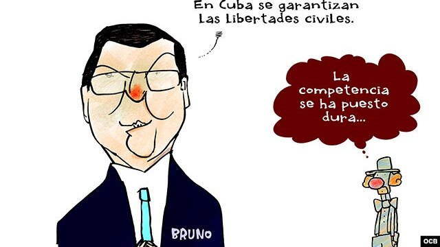 Garrincha's cartoon about Bruno Rodriguez