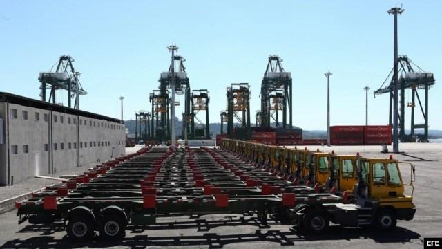 Vista de la terminal de contenedores del puerto del Mariel.