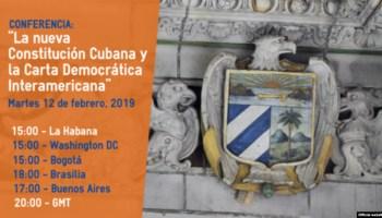 Evento en la OEA sobre los cambios a la Constitución en Cuba y la Carta Democrática Interamericana.