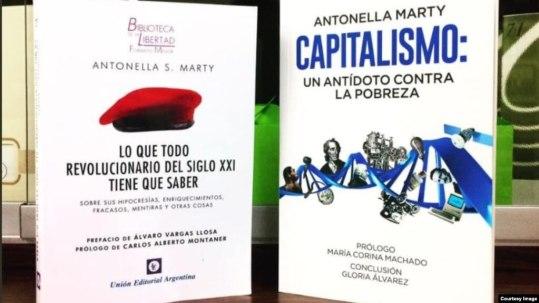 Los últimos dos libros de la ensayista argentina Antonella Marty.