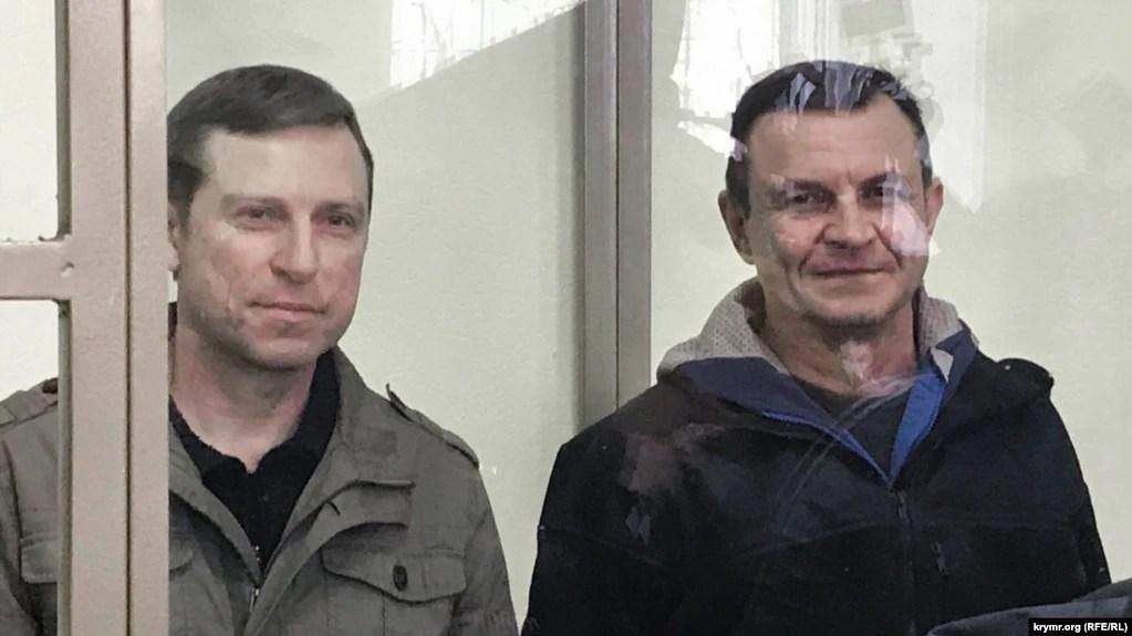 Володимир Дудка та Олексій Бессарабов у суді, 3 квітня 2019 року