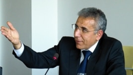 Czech republic -- Intigam Aliyjev, the recipient of People in Need's 2012 Homo Homini human rights award, participating in a discussion hosted by RFE/RL in Prague on 05Mar2013