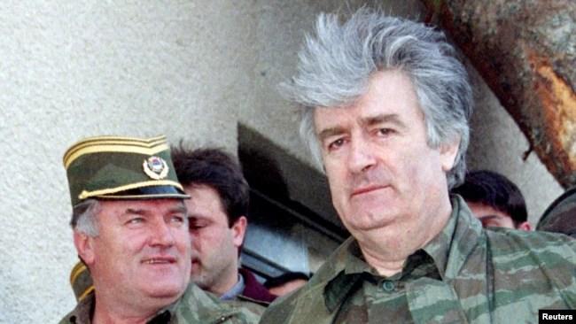 Ratko Mladić sa Radovanom Karadžićem u vrijeme rata u BiH
