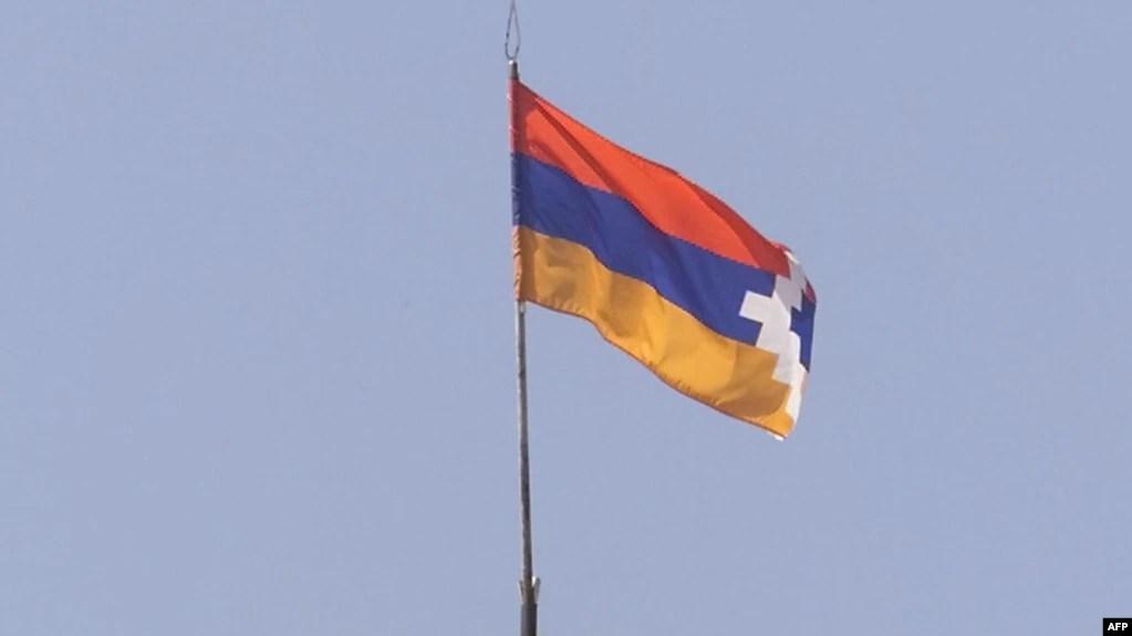 nagorno karabakh flag raised