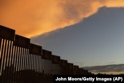 The fence on the border of Mexico and the United States, which Donald Trump intends to replace the wall