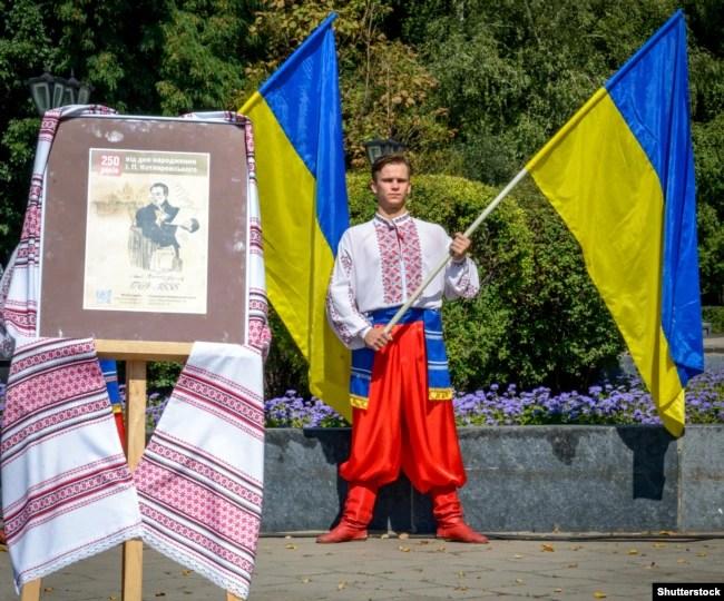 Під час відзначення 250-річчя від дня народження Івана Котляревського. Полтава, 9 вересня 2019 року