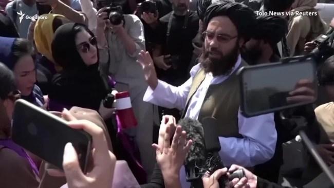 Taliban Militants Use Tear Gas, Fire Warning Shots As Women Demand Equal Rights