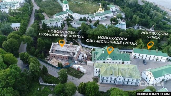 Ще два новозбудовані приміщення на території Києво-Печерської лаври та одне у процесі зведення