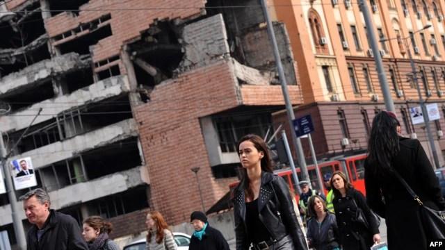 Generalštab u centru Beograda koji je pogođen za vreme NATO bombardovanja