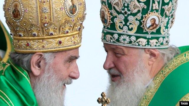 Patrijar Irinej i patrijarh Kiril u Moskvi