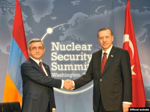 Վաշինգտոնում մեկնարկել է Հայաստանի նախագահ Սերժ Սարգսյանի հանդիպումը Թուրքիայի վարչպետ Ռեջեփ Էրդողանի հետ
