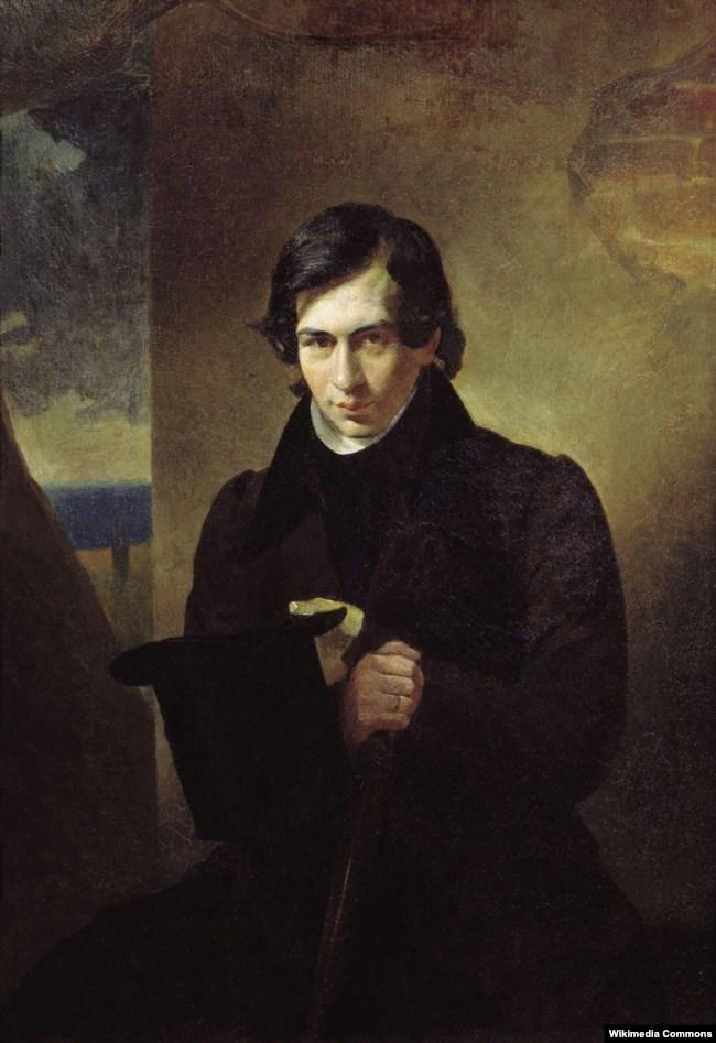 Нестор Кукольник (1809–1868) – письменник походженням із Закарпаття, драматург, поет, літературний критик, композитор, видавець, громадський діяч. Автор портрету – художник Карл Брюллов