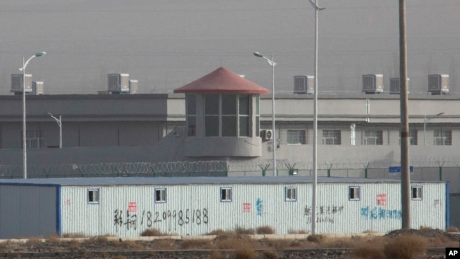 This facility in the Kunshan Industrial Park in Artux is one of a growing number of internment camps in the Xinjiang region.