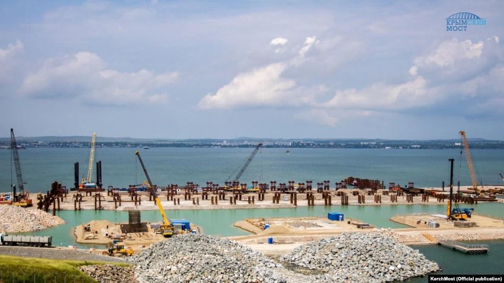 Строительство Керченкского моста