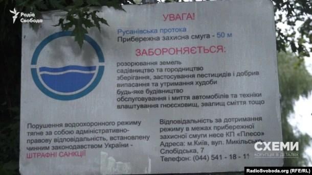 Інформаційний знак про те, де починається прибережна захисна смуга