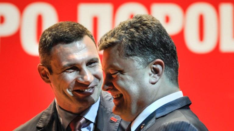 Президент Украины Петр Порошенко и лидер партии