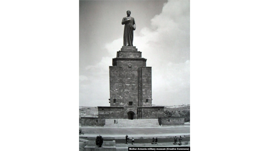A 50-meter-high monument to Soviet dictator Josef Stalin that was unveiled in Yerevan in 1950. In 1961, the bronze Stalin was pulled down, but the plinth remained.