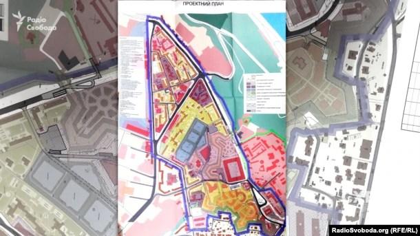 Проект детального плану, що охоплює більшу частину захисної зони Києво-Печерської лаври