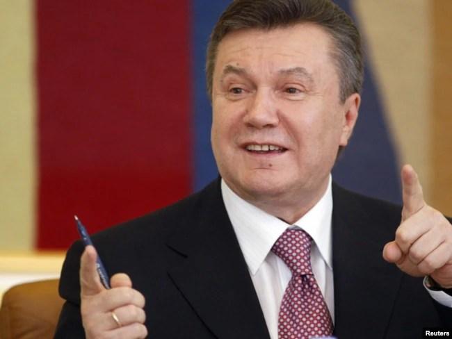 Ukrainian President Viktor Yanukovych in Kyiv in April 2010